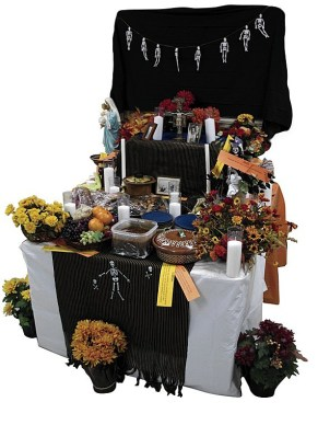pagan catholic day of the dead altar