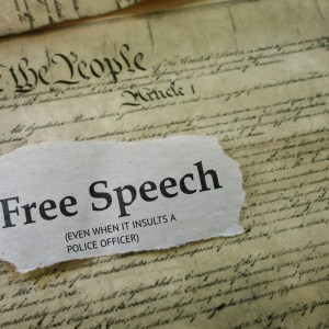 insult a police officer first amendment free speech fighting words