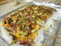 Top with bacon....