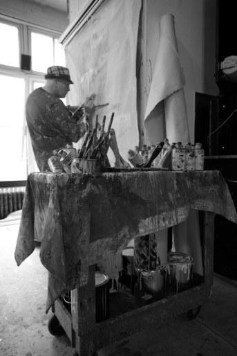 painting in 619 Western studio