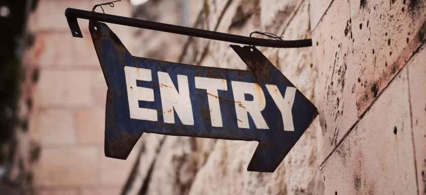 entry signage