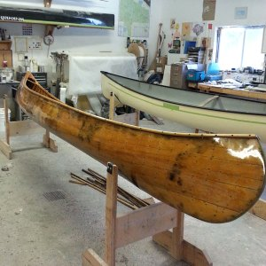 Wooden boat hull repair