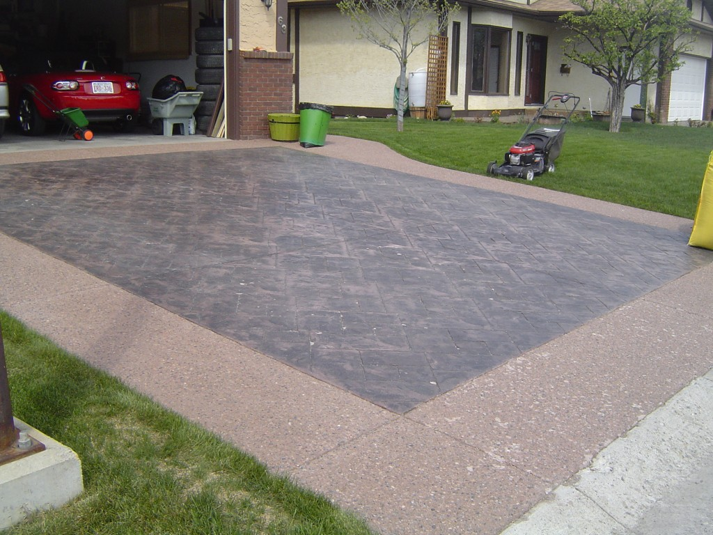 Johnnys Concrete Stamped Inlays With Exposed Borders