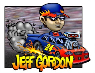 Jeff Gordon Caricature