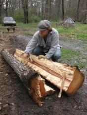 splitting hickory