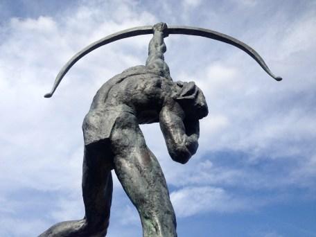 Statue of The Saltine Warrior, an Indian figure named Big Chief Bill Orange