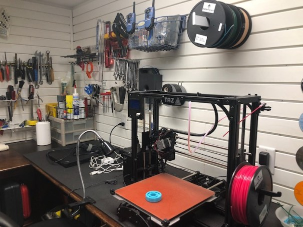 3-D Printer in shop