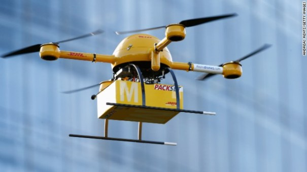 Drone carrying medicine