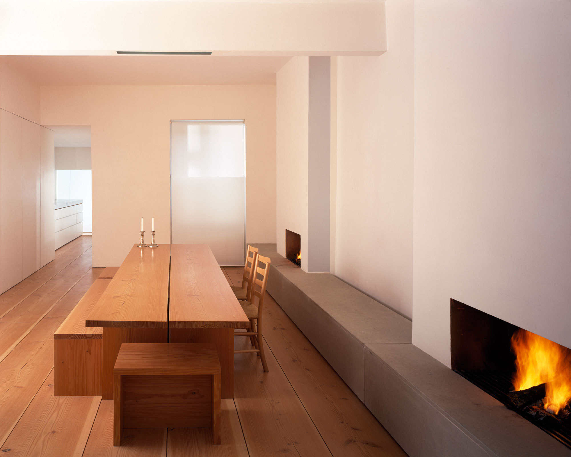 marble kitchen table set movable cabinets john pawson - house