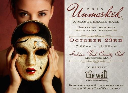 Unmasked Fundraiser Branding / Invitation (front)