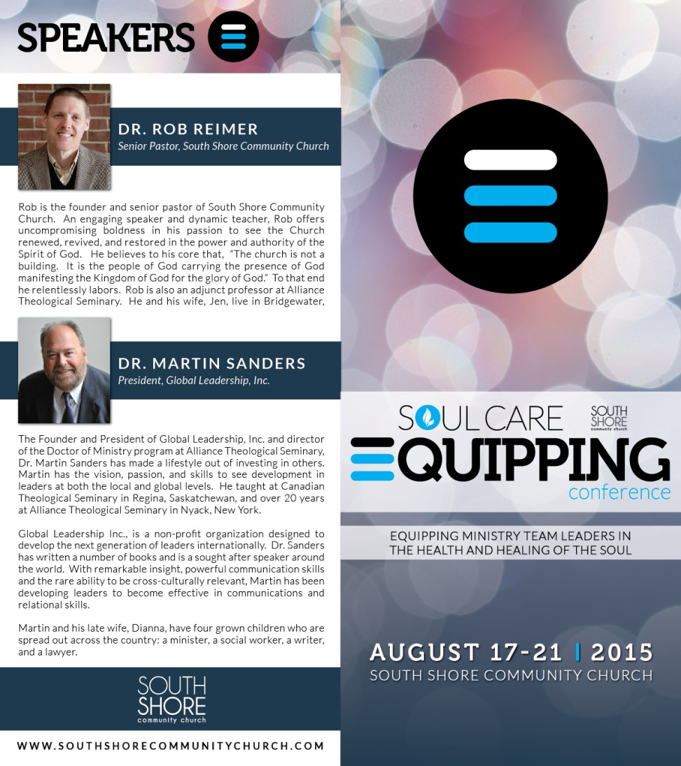 Soul Care Equipping Conference Brochure / Branding (front)