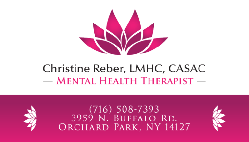 Christine Reber business card (front)
