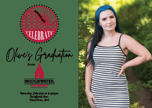 Olive's College Graduation Invite
