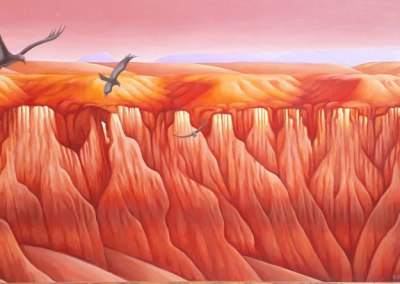 "Fantastic Canyon Acrylic 24"" x 48"""