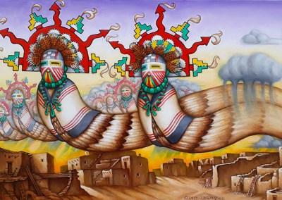 "Rain Maidens, 24"" x 48"", Oil Painting"