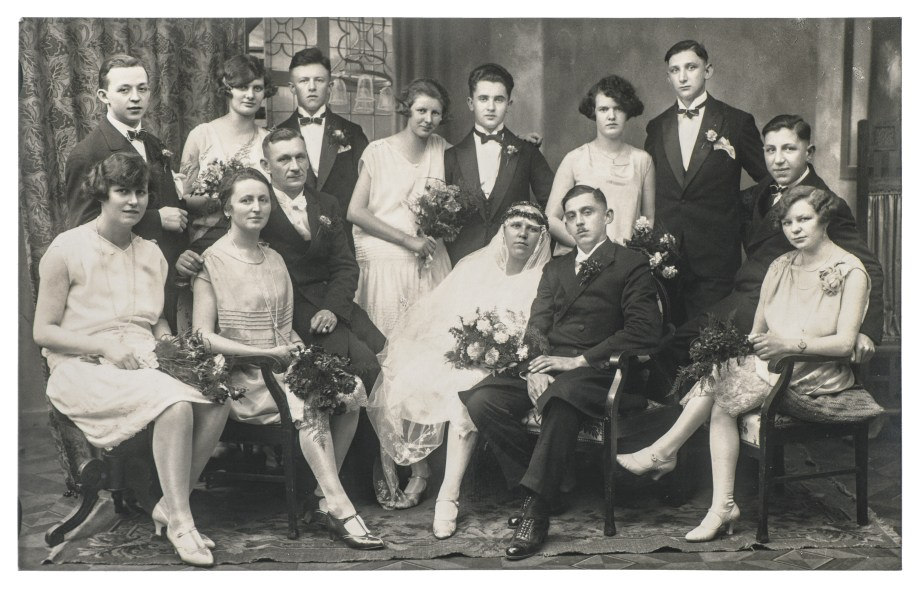 Old family wedding portrait vintage clothing
