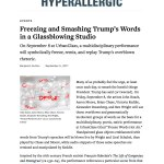 Frozen Words Featured In Hyperallergic