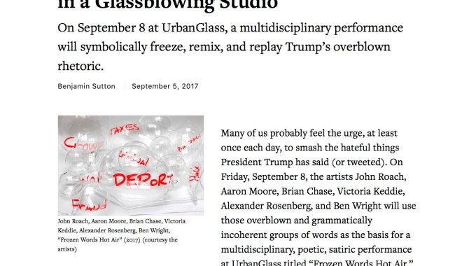 Freezing And Smashing Trump's Words In A Glassblowing Studio Copy