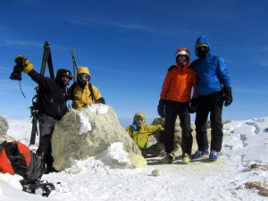 The summit of Mt Damavand, 19th March 2011 © Duncan Robinson