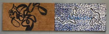 """Woodcut and resin on assemblage 144"""" x 40"""""""