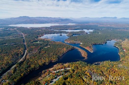 ossipee lake nh aerial photograph