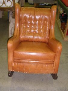 leather rocking chair front view