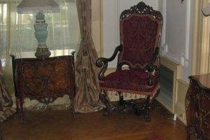 restored velvet chair