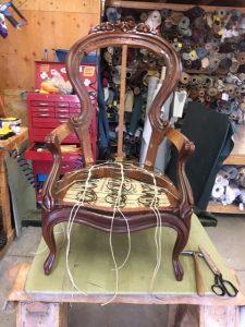 antique chair in progress
