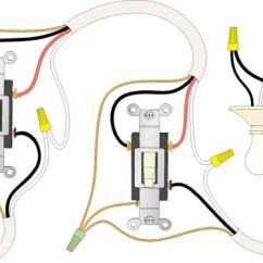 2 Way Switch Diagram Wiring Rv 50 Amp 30 Plug Distribution Panel Camper Power Handymanwire A 3 Or 4 Lights Between Switches