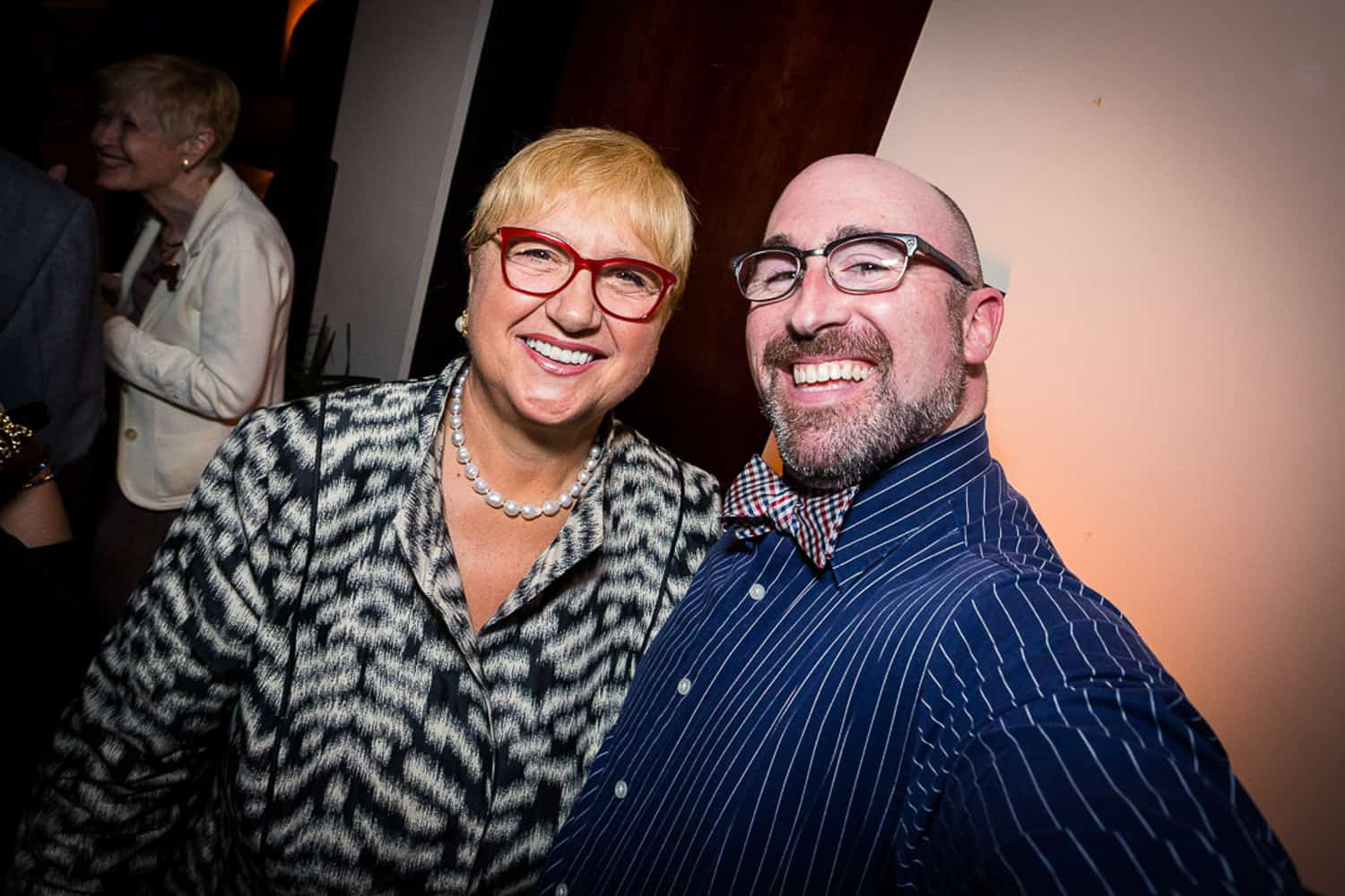 Photo of lidia bastianich and me at a wxxi event.