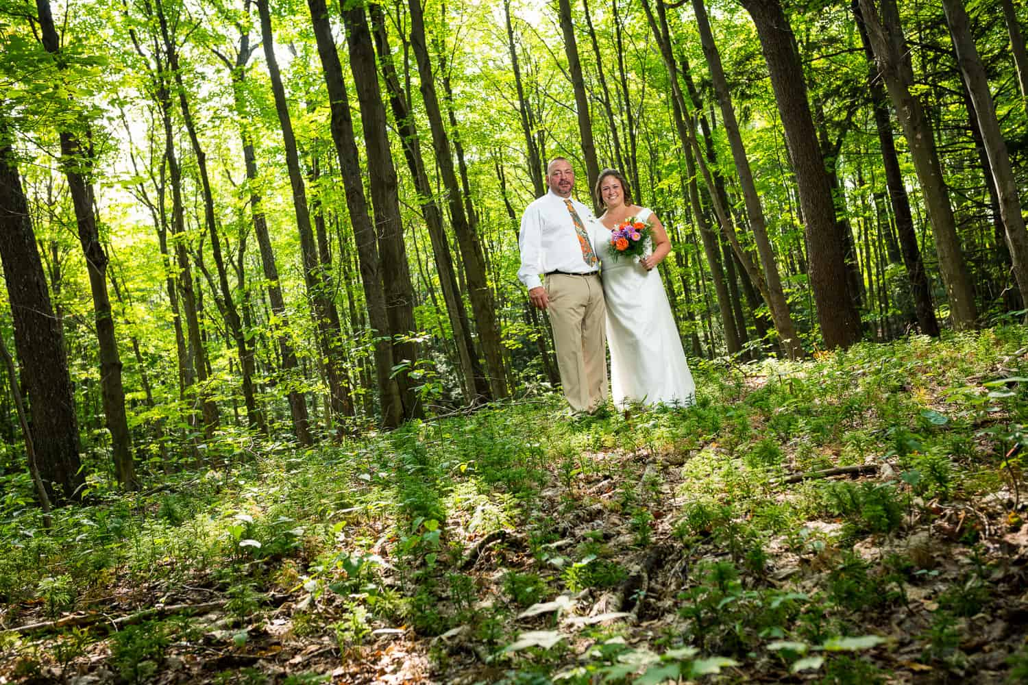 Paula and Dwayne before their wedding at Luensman Overview Park on Thayer Hill.