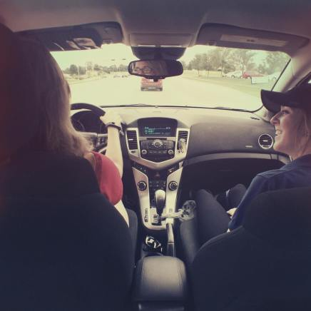 | Day 4 of 366 | Love getting picked up from work by these two lovely ladies! #365project #photoaday