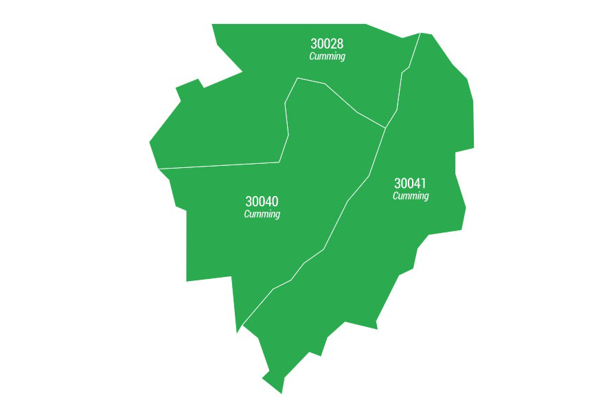 Forsyth County ZIP Code Areas