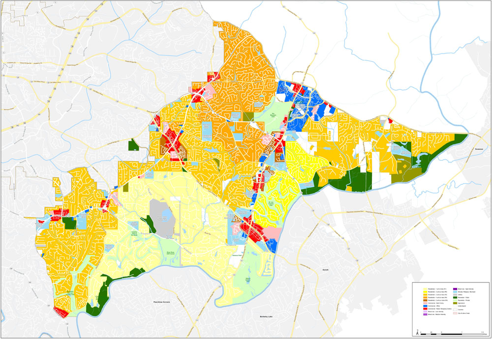 Johns Creek Current Land Use Map