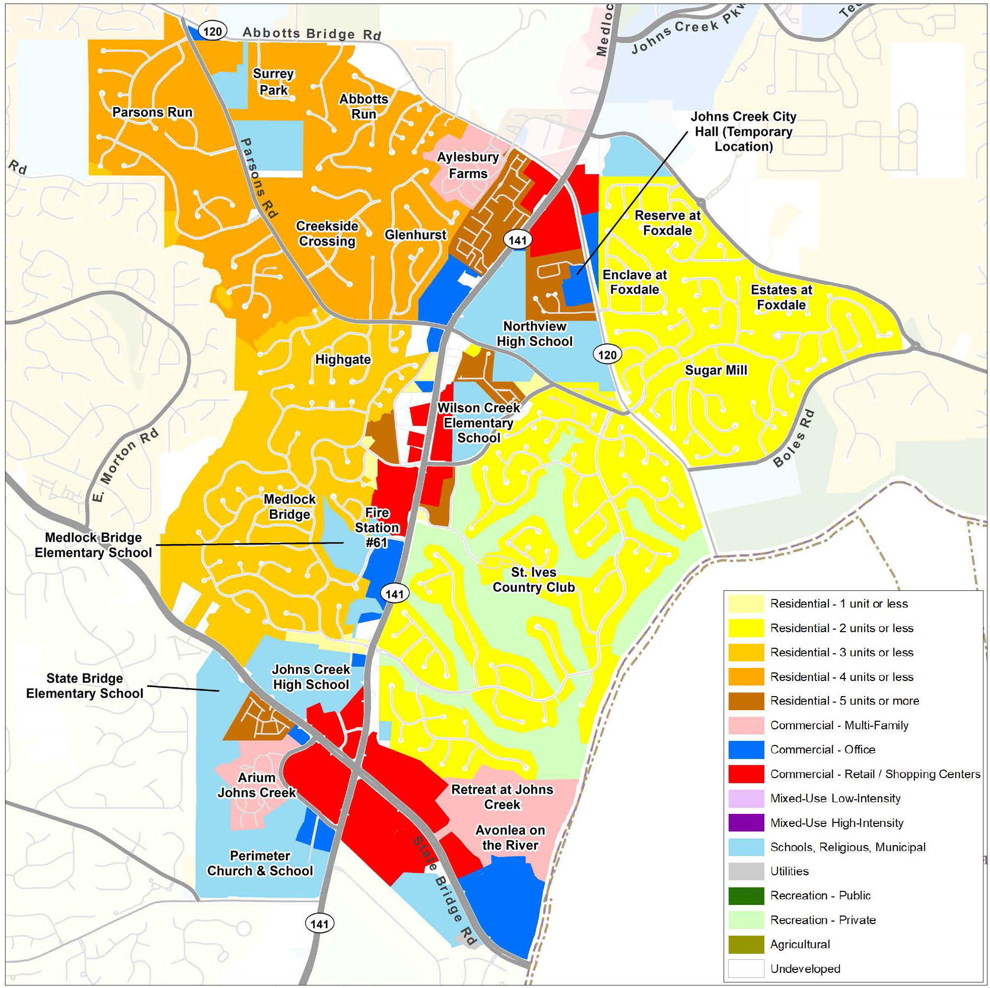 Medlock: Current Land Use Map