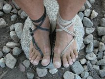 Feet in Barefoot Sandals