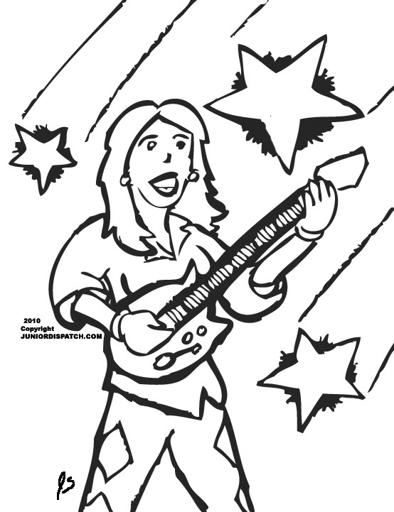 School Of Rock Nick Coloring Pages Coloring Pages
