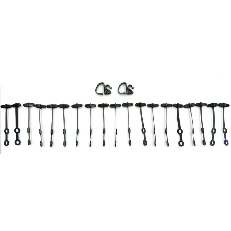 1965-1966 Mustang Wire Loom Mounting Kit, 21 pcs