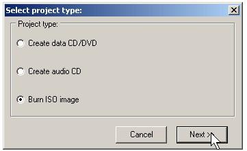 Burn ISO image
