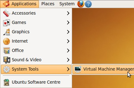 Virtual Machine Manager location