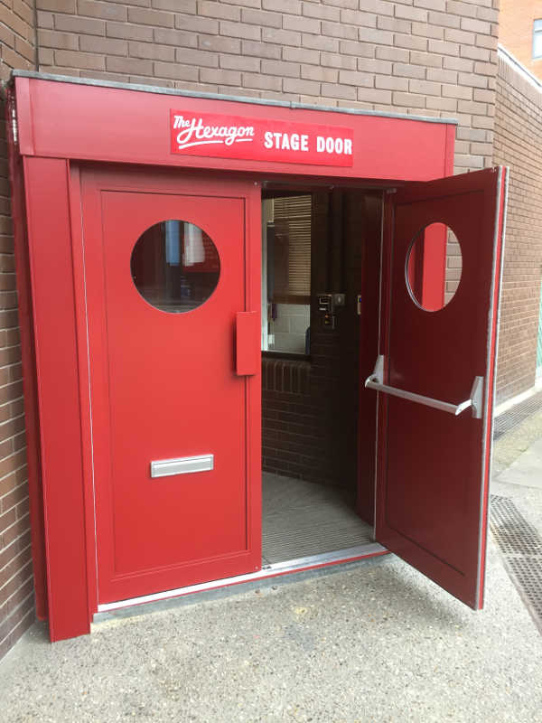 An example of doors fitted at the Hexagon in Reading