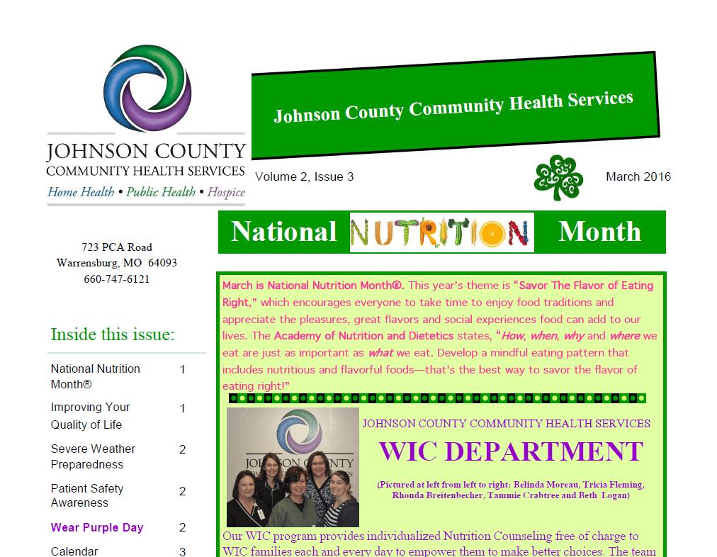 Mar 2016 Newsletter