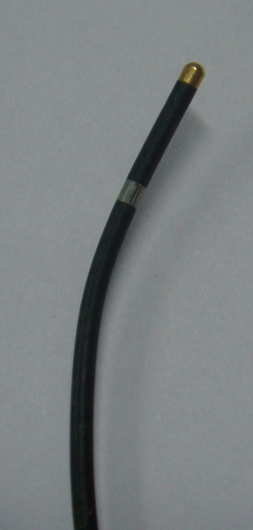 Tip of a temporary pacing electrode