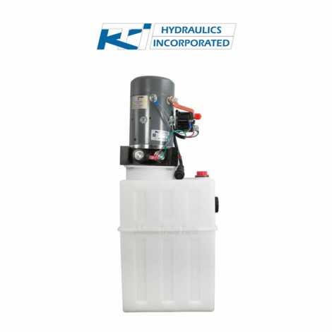 13 Quart 12V KTI Single Acting Hydraulic Pump