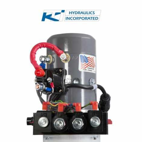6 Quart 12V KTI Dual-Double Acting Hydraulic Pump