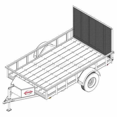 6′ x 10′ Utility Trailer Plans – 3,500 lb Capacity