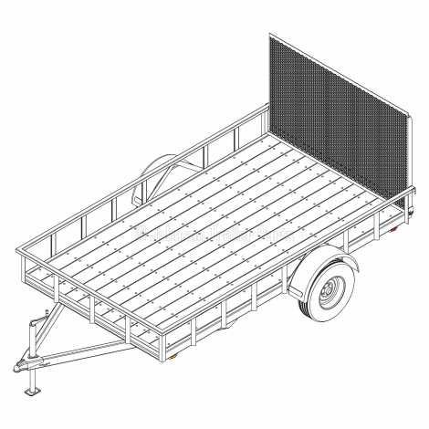 6′ 10″ x 12′ Utility Trailer Plans – 5,200 lb Capacity - 3