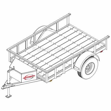5′ x 8′ Utility Trailer Plans Blueprints – 3,500 lb Capaci
