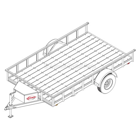 6′ 10″ x 12′ Utility Trailer Plans – 5,200 lb Capacity - 4