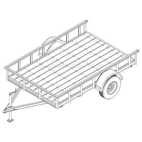 6′ 4″ x 10′ Utility Trailer Plans – 3,500 lb Capacity - 4